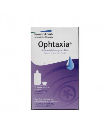 Ophtaxia. Solution de lavage oculaire. Flacon de 120ml