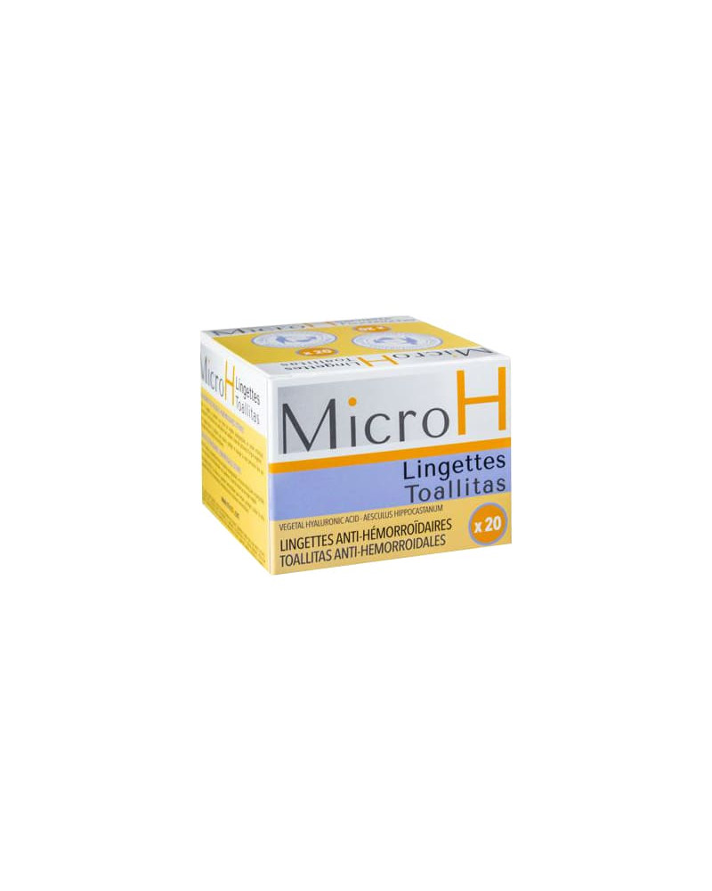 Micro H lingettes hémorroïdaires