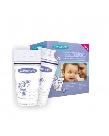 Lansinoh 25 sachets de conservation du lait maternel