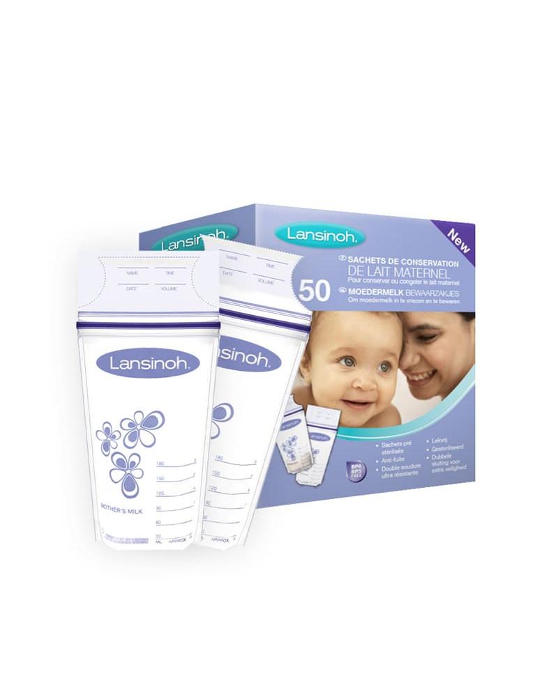 Lansinoh 50 sachets de conservation du lait maternel